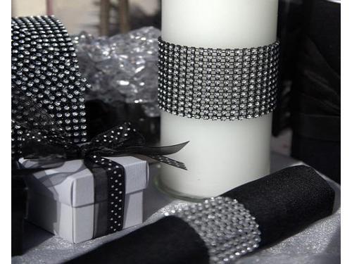 Ribbon de diamantes en velas