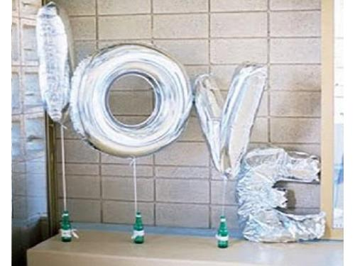Globos love plata