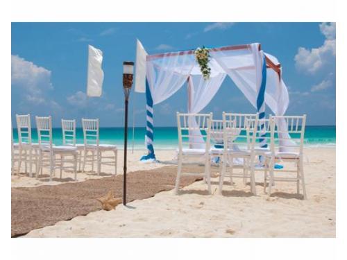 Gazebo para boda en la playa
