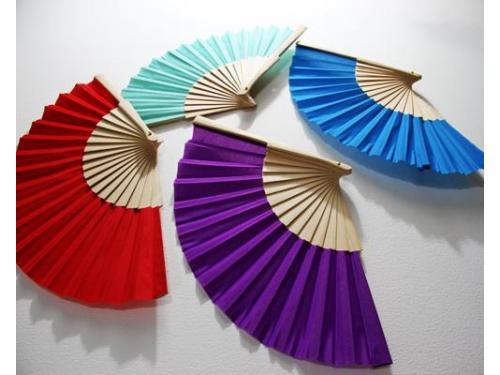 Abanicos coloridos
