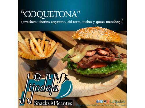 Nuestra deliciosa hamburguesa Coquetona, seguro te encantará.