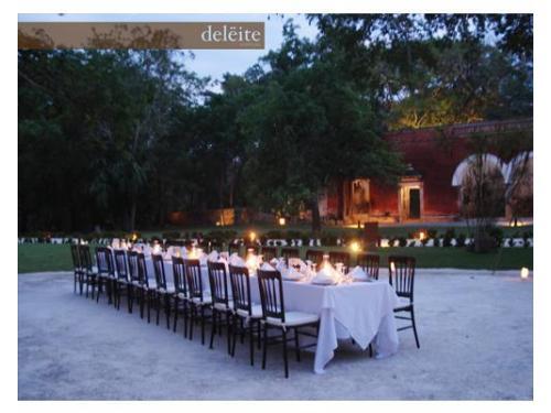 Montaje en exterior para tu boda