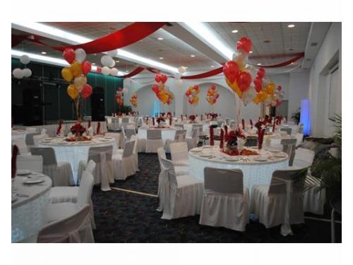 Salón para bodas decorado