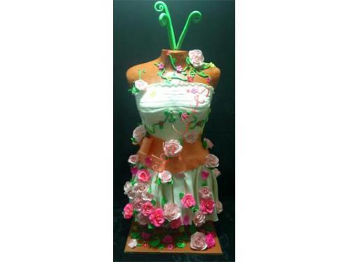 Pastel vestido de novia