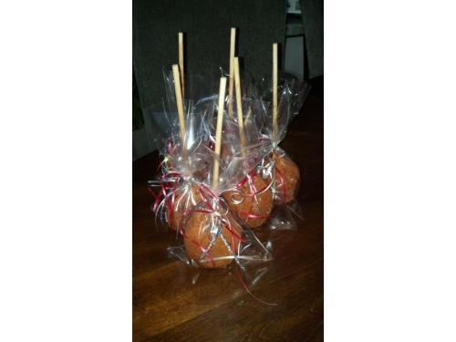 Manzanas cubiertas con delicioso tamarindo