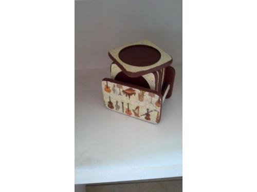 Porta vasos decorado con decoupage y acrilico