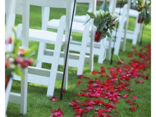 Flores en la ceremonia de la boda