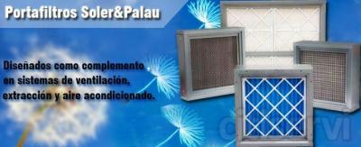 Portaflitros soler&palau,  Diseñados como complemento en sistemas  de ventilacion , extracción y aire acondicionado.  *Fabricados en lamina galvanizada. *Puertas de accesos. *Aplicación para filtros tipo minipleat, carbón activado, plisado y la