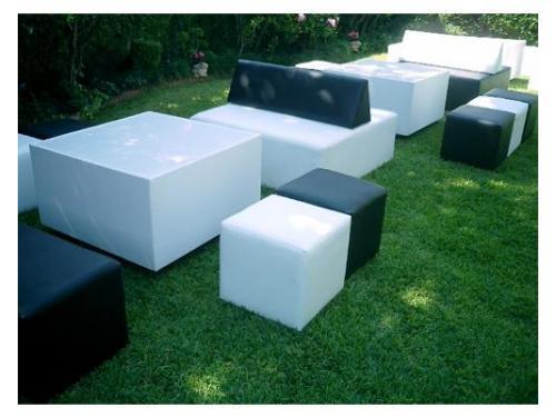 Sillones lounge blanco y negro